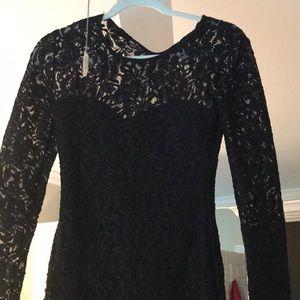 Sexy little black lace dress